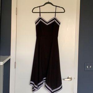 Ted Baker Asymmetric Black Dress, Size 2